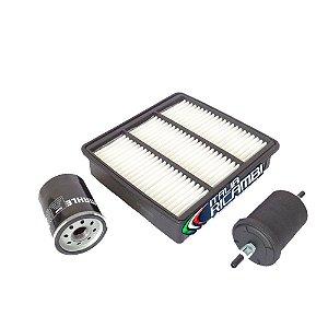 Kit filtros de ar, óleo e combustível - Mitsubishi Pajero TR4 4X2 e 4X4 de 2007 até 2015