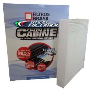 Filtro De Cabine Filtros Brasil FB704  - Chevrolet Gm Meriva 1.4 E 1.8 De 2002 Em Diante