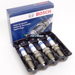 Jogo de velas Bosch Platinum SP33 - VW Fox Gol G5 Golf Jetta Polo e Voyage