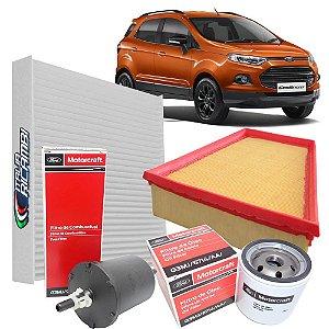 Kit filtros de ar, óleo, combustível e cabine - Ford Ecosport 2.0 de 2012 em diante