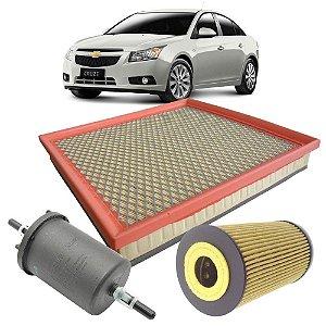 Kit filtros de ar, óleo e combustível - GM Cruze 1.8 16V de 2011 até 2016