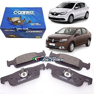 Jogo De Pastilhas Freio Dianteiras Cobreq N457 - Renault Sandero 1.0 16V 1.6 8V 16V E Logan 1.0 16V 1.6 8V Após 2014