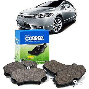 Jogo de pastilhas freio dianteiras Cobreq N835 - Honda Civic até 2011