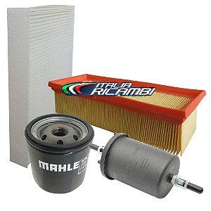 Kit filtros ar óleo combustível e cabine - Fiat Uno Grand Siena Mobi Palio e Fiorino