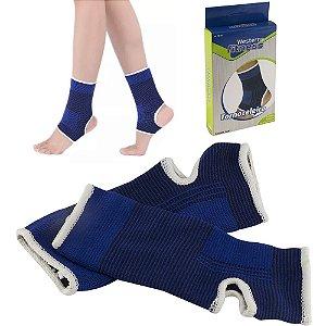 Par de tornozeleira elástica para proteção articulação de tornozelo, calcanhar e pé - Western F-11