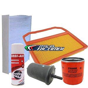 Kit filtros de ar, óleo, combustível, cabine e higienizador - VW Up! Fox Gol G7 Polo e Virtus 1.0 12V