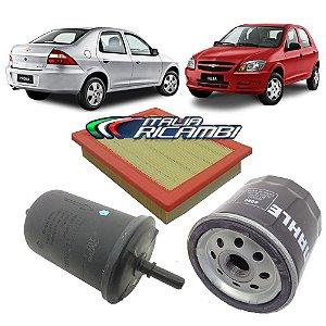 Kit Filtros de ar óleo e combustível - GM Celta Prisma 1.0 1.4 8v MPFI VHCE Life Spirit Joy Maxx