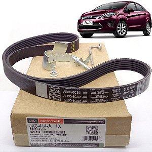Correia do alternador Poly-v de acessórios Ford BE8Z8620A - Ford New Fiesta Mexicano 1.6 16v de 2010 até 2013