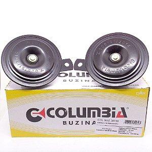 Par de Buzina automotiva elétrica tipo Paquerinha 92 mm 340 e 400 HZ 12V 2 terminais - Columbia 38730
