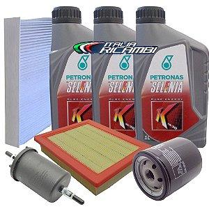Kit troca de óleo Selenia K 5w30 sintético e filtros - Fiat Palio Siena Idea 1.0 e 1.4 Fire
