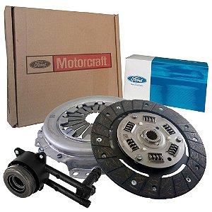 Kit de embreagem platô disco e atuador Motorcraft - Ford Fiesta e Ka 1.0 8V Zetec Rocam