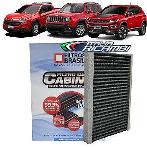 Filtro De Cabine Carvão Ativado Filtros Brasil FBC1175 - Jeep Renegade Compass E Fiat Toro