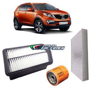 Kit filtros de ar, óleo e cabine - Kia Sportage 2.0 Flex de 2011 até 2016