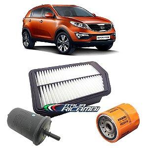 Kit filtros de ar, óleo e combustível - Kia Sportage 2.0 Flex de 2011 até 2016