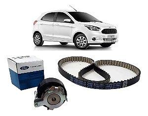 Kit De Correia Dentada E Tensor Original Ford Novo Ka 1.0 12v 3 Cilindros Tivct De 2014 Em Diante