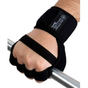 Par de luvas de musculação com munhequeira para treino academia crossfit - Hook Sports