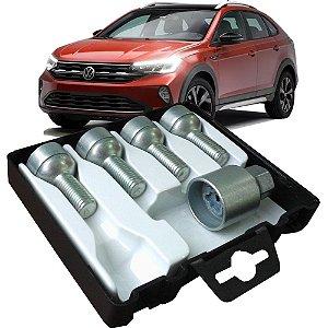Jogo Parafuso Antifurto Farad Starlock Giro Em Falso Código Único Volkswagen Nivus 2020 200TSI 1.0 12V De 2020 Em Diante