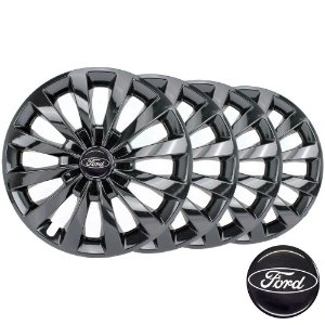 Jogo calota esportiva Elitte Passat CC Black Fosc Aro 13 Emblema Ford Black - Fiesta Ka Escort Focus - LC102