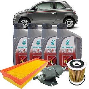 Kit Revisao Troca De Oleo 5w30 Selenia K Pure Energy Fiat 500 Cinquecento 1.4 16V Gasolina de 2009 Em Diante