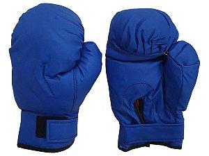 Luva para muay thai feminina e masculina boxe bate saco box par - Cores Preto Vermelho e Azul