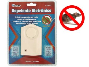 Repelente Aparelho Sonoro Para Espantar Ratos Eletronico Bivolt 110/220V Alcance 30m² Não Usa Veneno
