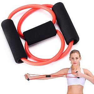 Elástico extensor para exercícios fitness de fortalecimento costas ombros braços