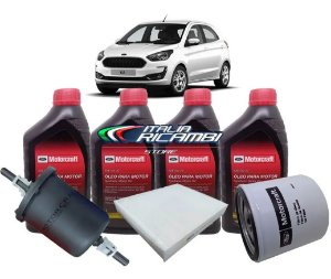 Kit 2ª Revisão 20.000 Km Ford Ka 1.5 12V 3 Cilindros Dragon 2018 2019 2020 2021
