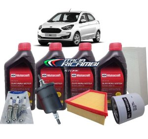 Kit 8ª Revisão 80.000 Km Ford Ka 1.5 12V 3 Cilindros Dragon 2018 2019 2020 2021
