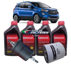 Kit 1ª Revisão 10.000 Km Ford Ecosport 1.5 12V 3 Cilindros Dragon 2018 2019 2020 2021