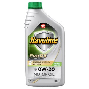 Óleo de motor 0W20 SN sintético - Texaco Havoline Pro DS Full Synthetic - 1 Litro