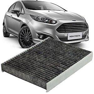 Filtro De Cabine Ar Condicionado Carvão Ativado Ford New Fiesta 2010 2011 2012 2013 2014 2015 2016 2017 2018 2019
