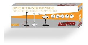 SUPORTE PROJETOR TETO BRASFORMA SBRP756B