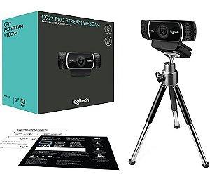 WEBCAM 1080P LOGITECH C922 PRO COM TRIPE 960-001087