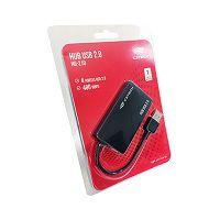 HUB USB 2.0 4 PORTAS C3TECH HU-210BK PRETO
