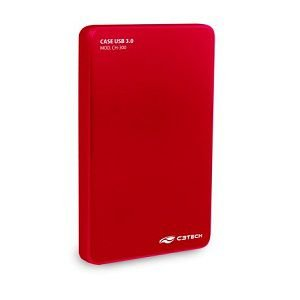 GAVETA HD NOTEBOOK USB 3.0 C3TECH CH-300RD VERMELHO