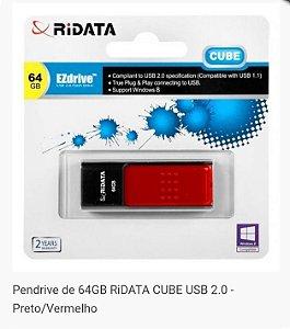 PEN DRIVE 64GB USB 2.0 CUBE RIDATA @