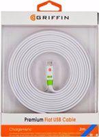 CABO MICRO USB 3M GRIFFIN BRANCO