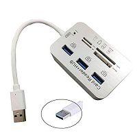 HUB USB 3.0 3 PORTAS + LEITOR DE CARTAO F3 602