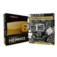 PLACA MÃE H81MHV3 BIOSTAR DDR3 1150 (HDMI/VGA) @