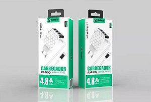 CARREGADOR TOMADA COM CABO MICRO USB SHINKA SH-T12