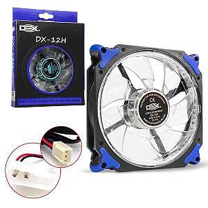 COOLER GABINETE 12CM COM LED AZUL DX-12H CL0020AZ - 0935
