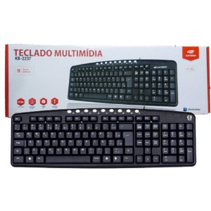 TECLADO USB MULTIMIDIA C3TECH KB2237-2 BK PRETO