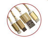 CABO MICRO USB / TIPO-C / IPHONE LIGHTNING SHINKA SJX-09-3IN1 - 139