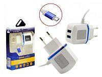 CARREGADOR PAREDE 2P USB 3.1A MICRO USB SHINKA SH-V8-2USB - 328