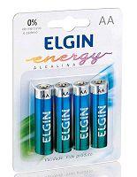 PILHA ALCALINA AA COM 4 ELGIN LR6 82153