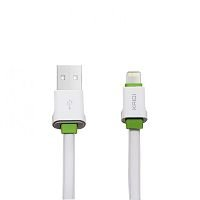 CABO USB IPHONE LIGHTNING 1M 2.4A KAIDI KD-319A BRANCO