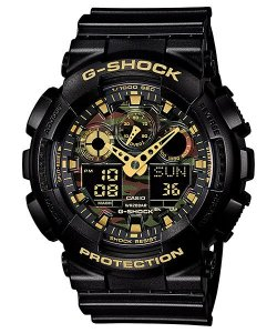 RELOGIO CASIO G-SHOCK GA-100CF-1A9DR 5081 PRETO/DOURADO@
