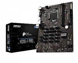 PLACA MÃE H310-F PRO MSI DDR4 1151 (HDMI/VGA/DVI)