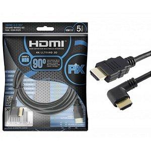 CABO HDMI 2.0 5M 90 GRAUS PIX 018-3325
