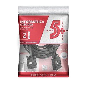 CABO VGA 2M COM FILTRO CHIPSCE 018-9511